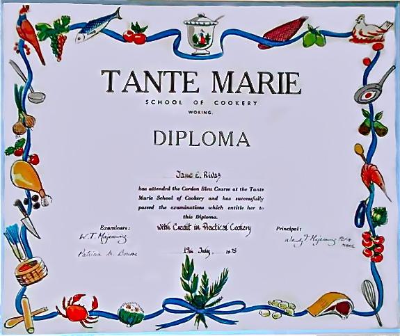 My Cordon Bleu Diploma ©