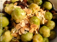 Brussels Sprouts, Almonds and Chestnuts