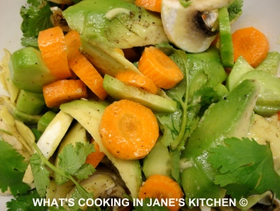 Avocado, Cucumber, Carrot And Coriander Salad