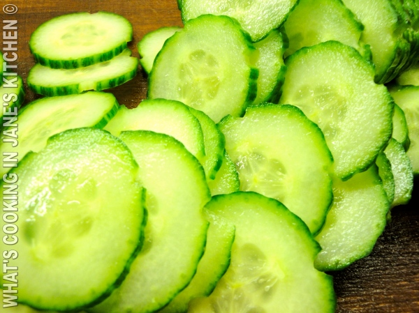 Cucumber Garnish