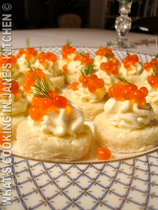 Salmon Caviar Canapés ©