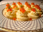 Salmon Caviar Canapes ©