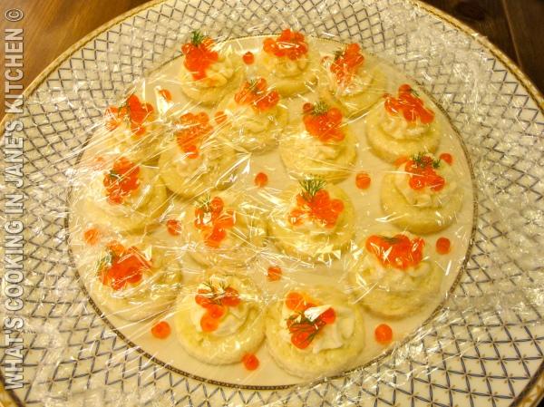 Salmon Caviar Canapes