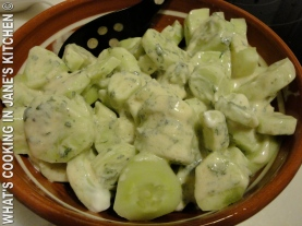 Cucumber Salad With Yogurt Dressing ©