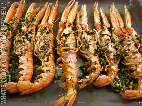 Langoustine Marinaded In Ouzo and Garlic ©