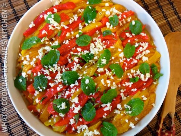 Roasted Bell Pepper Salad ©
