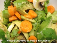 Avocado, Carrot, Cucumber And Coriander Salad ©
