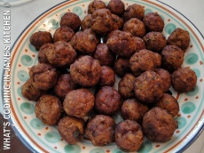 "Greek Meatballs. ""Keftedakia."" ©"