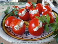 Cream Cheese and Mint Cherry Tomatoes ©