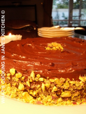 Chocolate And Pistachio Nut Cake ©