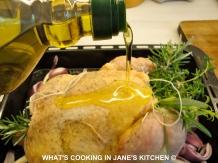 Greek Roast Chicken With Rosemary, Thyme, Tarragon And Lemon Potatoes ©