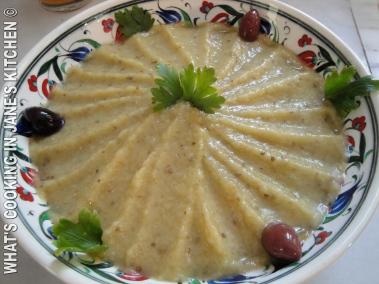 Greek Aubergine Salad. Melizanosalata. ©