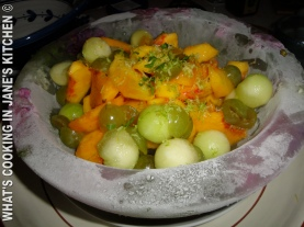 Summer Fruit Salad On Ice ©