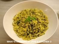 Freshly Made Pesto And Fusili Pasta ©