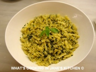 Freshly Made Pesto And Fusili Pasta ©