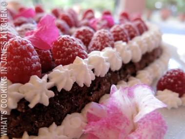 Chocolate, Raspberry And Cream Valantine's Cake! ©