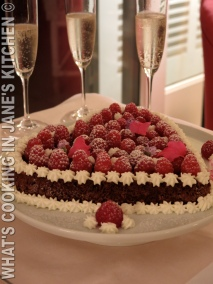 Chocolate, Raspberry And Cream Valantine's Cake! ©