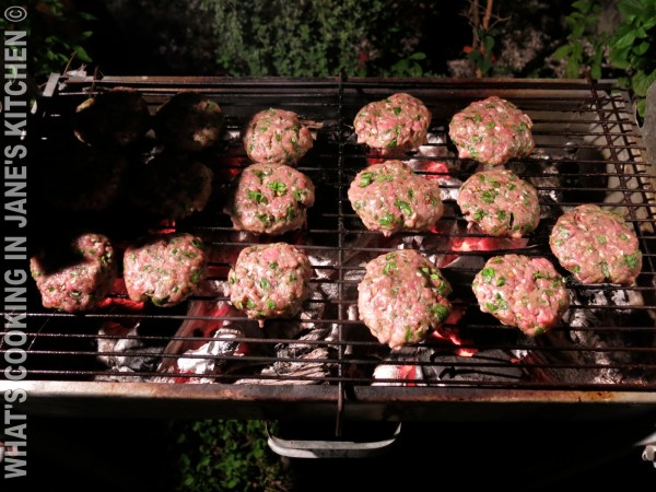 Spicy Burgers On The Grill ©