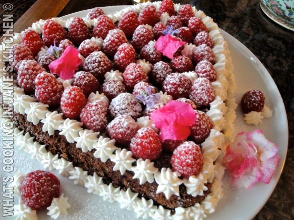 Chocolate Cream and Raspberry Valentines Cake ©