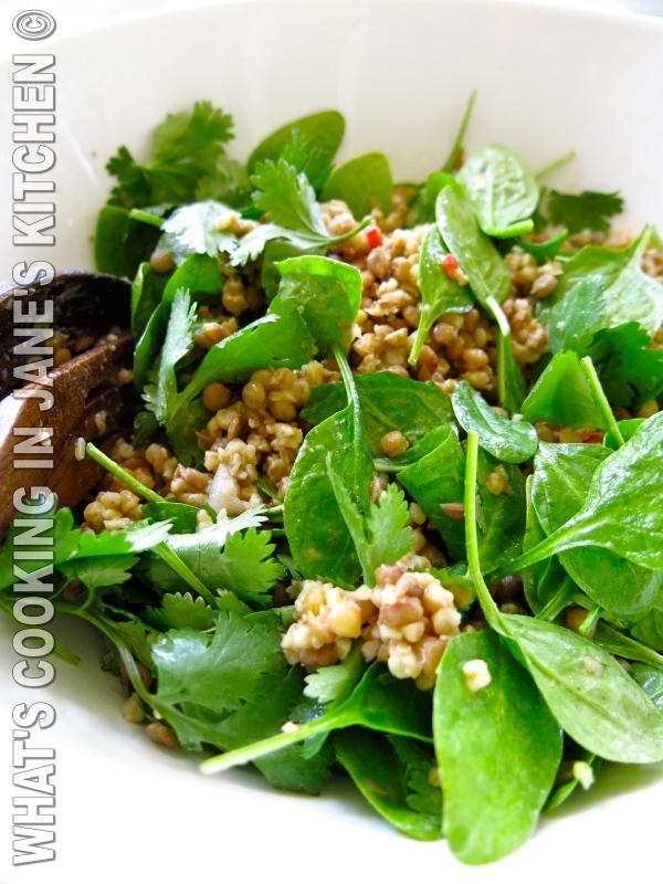 Spinach Lentil And Bulgar Wheat Salad ©