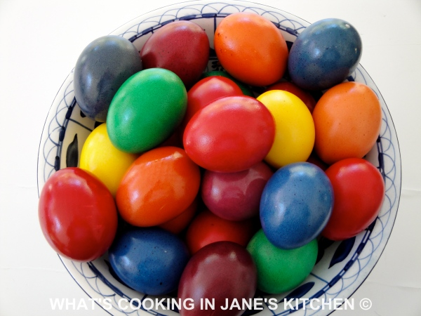 Dyeing Easter Eggs ©