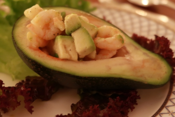 Avocado And Spicy Prawns ©