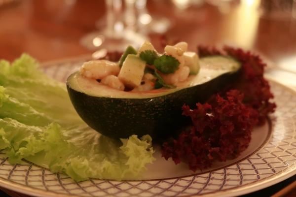 Avocado And Spicy Shrimp ©