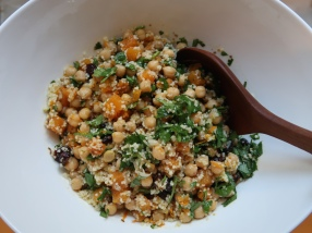 Chickpea And Couscous Salad With Spices And Fresh Coriander ©