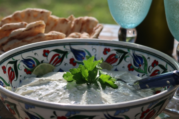 Yogurt Ginger Lime and Chilli Dip ©
